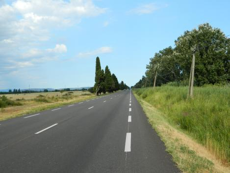 journey down a long straight road