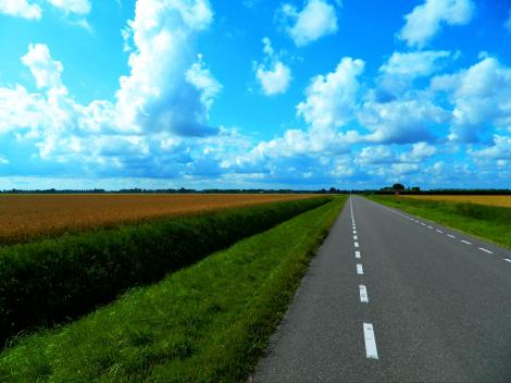 Flat cycling in the Netherlands