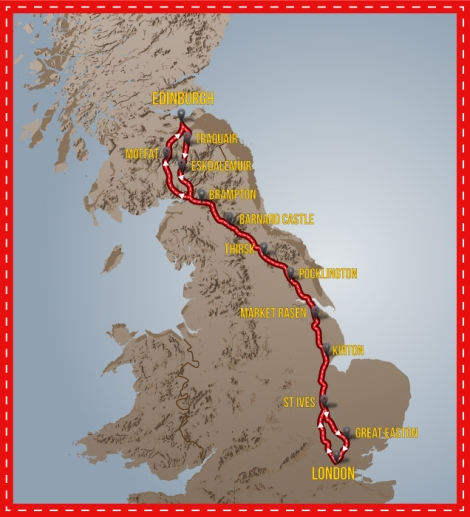 Route of the 2013 LDN-EDN-LDN