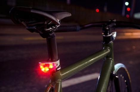 bike lights silouette night