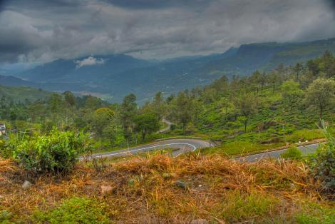 A superb cycling road near Kandy, Sri Lanka