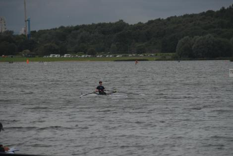 Me rowing in some pretty windy conditions