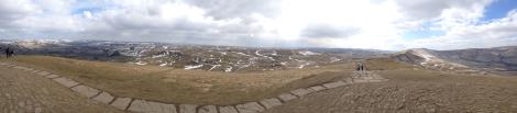 Windy Panorama at the top of Mam Tor