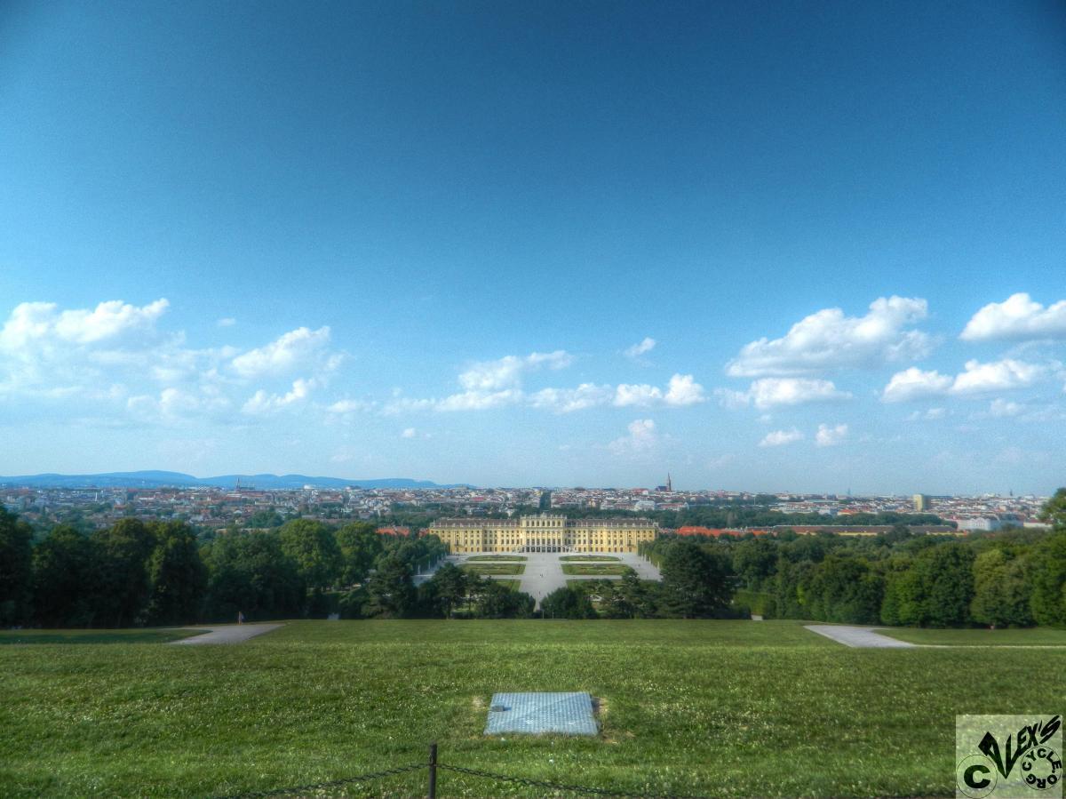 View over Vienna from Schonbrunn