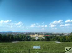 View over Vienna from Schonbrunn