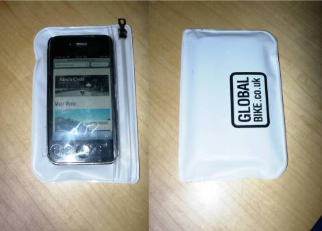 iPhone in the pOcpac case