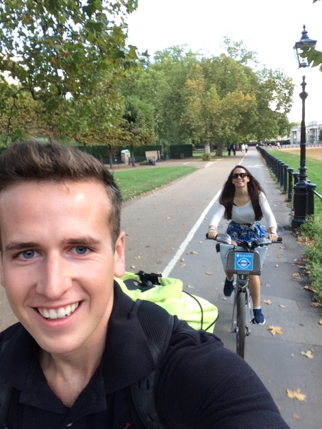 Our first journey on the Boris Bikes.