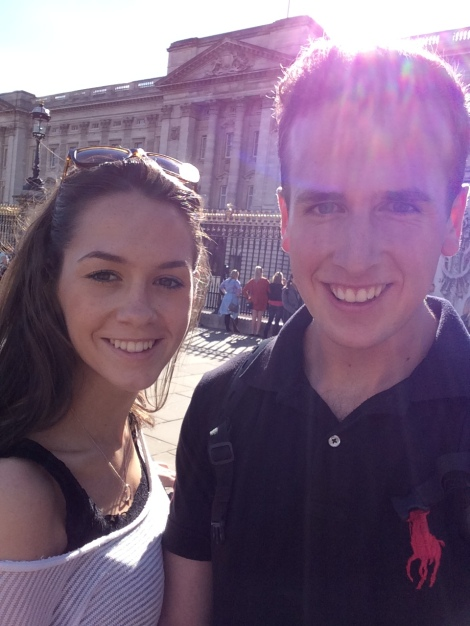 Selfie with our bikes at Buckingham Palace