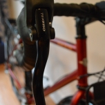 Standard brake levers but they do the job well when hooked up to the disk brakes.